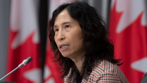 Chief Public Health Officer Theresa Tam speaks during a news conference Friday July 24, 2020 in Ottawa. THE CANADIAN PRESS/Adrian Wyld