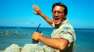 "This image released by Universal Pictures shows Roy Scheider in a scene from the iconic 1975 film ""Jaws."" (Universal Pictures via AP)"