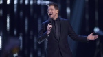 Michael Buble is shown on stage at the Juno Awards in Vancouver, Sunday, March 25, 2018. Buble is to be appointed to the Order of British Columbia, one of the province's highest honours. THE CANADIAN PRESS/Darryl Dyck