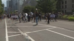 Hundreds marched through the streets of downtown Toronto to call for the end of systemic anti-Black racism in schools.