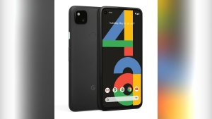 An image provided by Google shows the Pixel 4A budget smartphone, which has the same high-quality camera and several other features available in fancier Pixel models. The phone, unveiled Monday, Aug. 3, 2020, will be available Aug. 20 after months of delay caused by supply problems triggered by the coronavirus pandemic. (Google via AP)