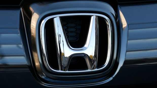 In this Jan. 11, 2016, file photo, the logo of Honda Motor Co. is seen on a Honda vehicle at the Japanese automaker's headquarters in Tokyo. (AP Photo/Shuji Kajiyama, File)
