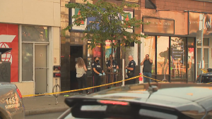 Police said the stabbing happened at Bloor Street West and Dovercourt Road Tuesday night.