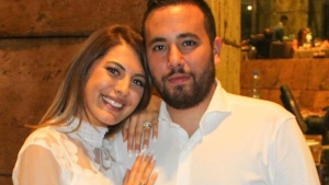 Rawane Al Zahed and her husband Mazen Alaouie are shown in a handout photo. Al Zahed remembers running through her home to check on her family after she heard blasts rip through Beirut and felt the ground shake beneath her feet. THE CANADIAN PRESS/HO-Rawane Al Zahed MANDATORY CREDIT