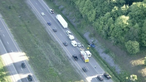A crash has closed a section of Highway 404 in Newmarket this morning.
