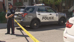 A woman is in hospital with serious injuries after a downtown shooting Wednesday afternoon.