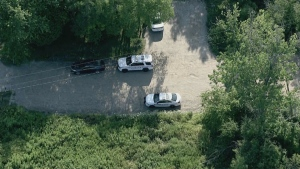 Emergency crews were called to the area of Frisco and Montgomery Park roads after human remains were found near the shoreline of Lake Ontario by a citizen.