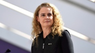 Governor General Julie Payette delivers remarks during a celebration of the 100th anniversary of Statistics Canada at its headquarters in Ottawa on Friday, March 16, 2018. THE CANADIAN PRESS/Justin Tang