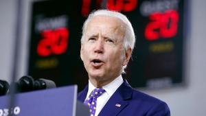 In this July 28, 2020, file photo, Democratic presidential candidate former Vice President Joe Biden speaks at a campaign event in Wilmington, Del. Despite all the secrecy, the speculation and the fierce jockeying behind the scenes, presidential running mates rarely sway an election. But as the political world awaits the imminent announcement of Biden's vice presidential pick, there is a real sense among his allies and adversaries that this decision may matter more in 2020.  (AP Photo/Andrew Harnik, File)