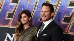"FILE - Katherine Schwarzenegger, left, and Chris Pratt arrive at the premiere of ""Avengers: Endgame"" in Los Angeles on April 22, 2019. (Photo by Jordan Strauss/Invision/AP, File)"