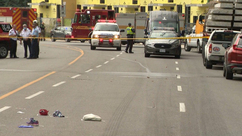 A three-year-old boy is dead after he was struck by a vehicle in Etobicoke Tuesday morning.