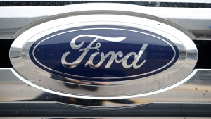 The Ford logo shines off the grille of a vehicle at a Ford dealership in Littleton, Colo., on Oct. 20, 2019. Ford is recalling 62,876 vehicles in Canada, citing a safety issue with the brakes. The recall covers certain Ford Edge vehicles with 2015 through 2018 model years, and Lincoln MKX vehicles with 2016 to 2018 model years. THE CANADIAN PRESS/AP, David Zalubowski