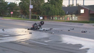 motorcycle, crash, Brampton