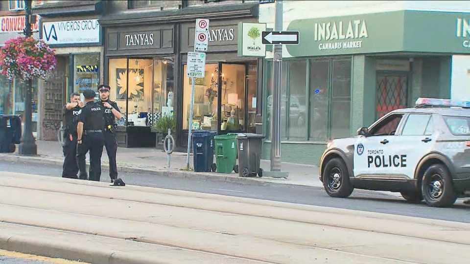 Police are investigating reports of shots fired in the area of St. Clair and Lansdowne avenues.