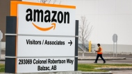 The Competition Bureau is asking businesses to come forward for an antitrust investigation into Amazon. An Amazon warehouse north of Calgary in Balzac, Alta., that has reported an outbreak of COVID-19 Monday, May 4, 2020. THE CANADIAN PRESS/Jeff McIntosh