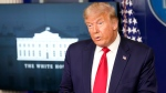 President Donald Trump speaks during a news conference at the White House, Friday, Aug. 14, 2020, in Washington. (AP Photo/Patrick Semansky)