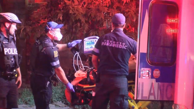 A man is in custody after a stabbing downtown early Saturday morning, Toronto police say.