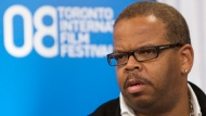 "Musician Terence Blanchard speaks during a press conference for the film ""Miracle at St. Anna"" during the 2008 Toronto International Film Festival on Sunday, Sept. 7, 2008 in Toronto. THE CANADIAN PRESS/Nathan Denette"
