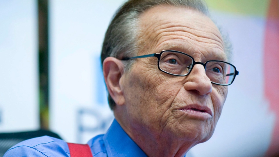 Talk show host Larry King attends a press conference in Montreal, Wednesday, October 6, 2010 where he spoke to reporters about his career as host of 'Larry King Live'.THE CANADIAN PRESS/Graham Hughes