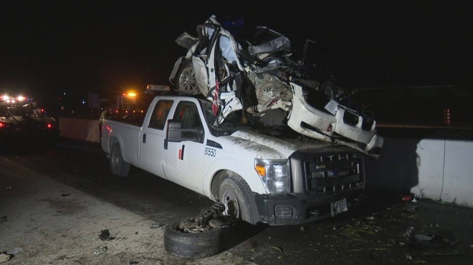 The Ontario Provincial Police (OPP) is investigating after a vehicle rolled over on Highway 407 in Milton on Sunday night.