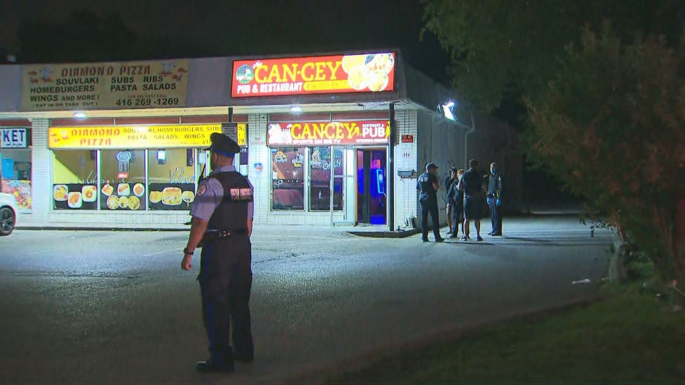 Police are investigating a shooting near Danforth Road Savarin Street.