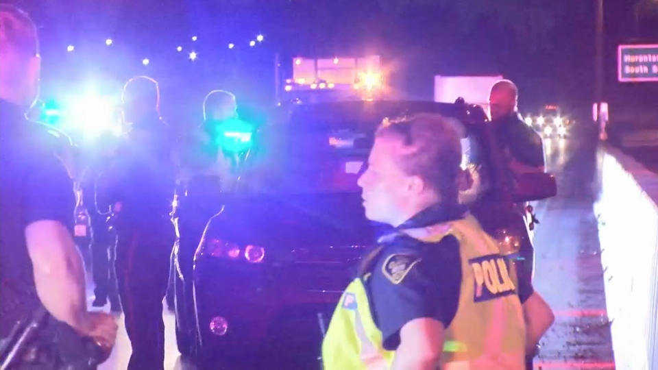 Toronto police said it received several calls about a suspected impaired driver in the area of Islington Avenue and Albion Road early Tuesday morning.