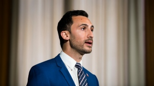 Ontario Minister of Education Stephen Lecce speaks during the daily updates regarding COVID-19 at Queen's Park in Toronto on Tuesday, June 9, 2020. THE CANADIAN PRESS/Nathan Denette