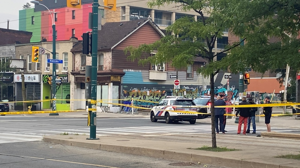 Police tape is shown in Toronto on Tuesday, May 2, 2017. THE CANADIAN PRESS/Graeme Roy