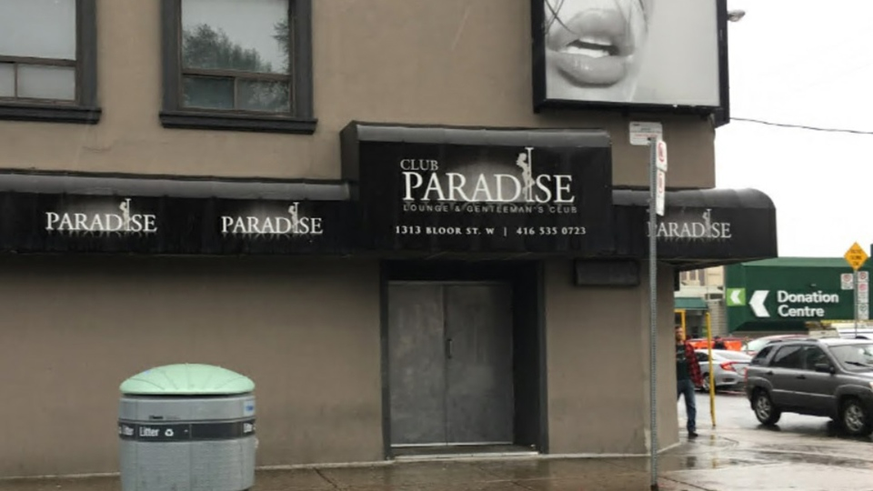 Club Paradise on Bloor Street West is seen in a 2017 Google Image. (Robert Karbaum)