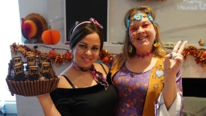 Melanie Vicente, left, and her sister Lolita Do Paco pose in an October 2019, handout photo. Fears that an invisible virus may be lurking among trick-or-treaters this Halloween will keep Vicente's two children home this year, but the Toronto mom says she's determined to make sure her beloved holiday is still spooktacular. THE CANADIAN PRESS/HO