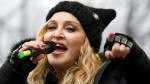 In this Jan. 21, 2017 file photo, Madonna performs on stage during the Women's March rally in Washington. (AP Photo/Jose Luis Magana, File)