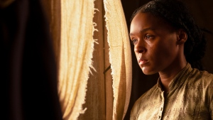 "This image released by Lionsgate shows Janelle Monae in a scene from ""Antebellum."" (Matt Kennedy/Lionsgate via AP)"