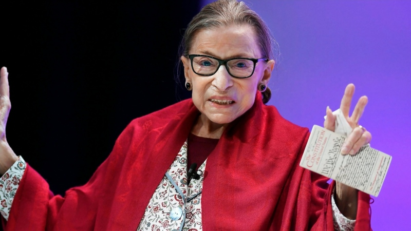 Supreme Court Justice Ruth Bader Ginsburg died Friday at her home in Washington. She was 87.
