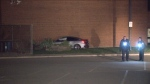No injuries were reported after shots were fired at a man in a vehicle at a plaza near Steeles and Warden avenues.