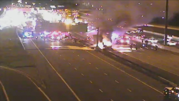 Scarborough tractor trailer fire