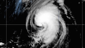 Satellite image of Hurricane Teddy, Sept. 21, 2020.