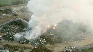 scrapyard, fire