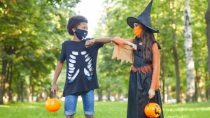 FILE- Trick-or-treaters (Shutterstock)