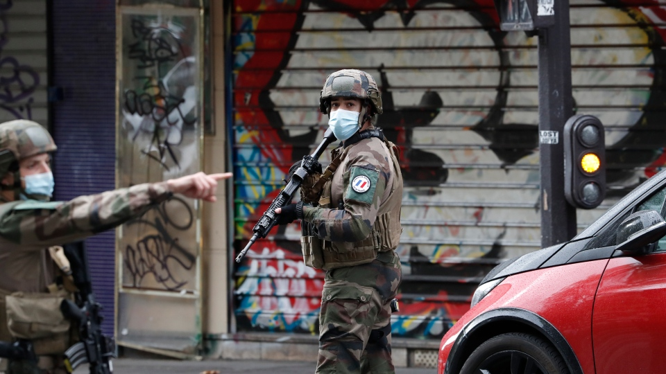 France 7 In Custody After Stabbing Linked To Charlie Hebdo Cp24 Com