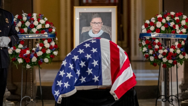 Ruth Bader Ginsburg lies in state