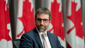 FILE - Canadian Heritage Minister Steven Guilbeault is seen during a news conference Thursday June 18, 2020 in Ottawa. THE CANADIAN PRESS/Adrian Wyld