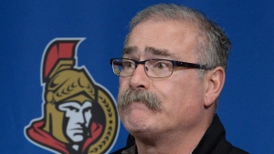 Ottawa Senators' head coach Paul MacLean holds a press conference regarding the end of the season in Ottawa on Monday, April 14, 2014. The Toronto Maple Leafs have hired former Senators coach Paul MacLean as an assistant coach. THE CANADIAN PRESS/Sean Kilpatrick