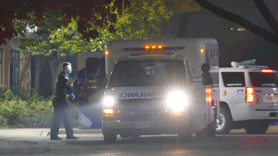 At around 11:30 p.m., on Friday, police responded to reports of a stabbing at a residence at Leslie Street and Lesmills Road.