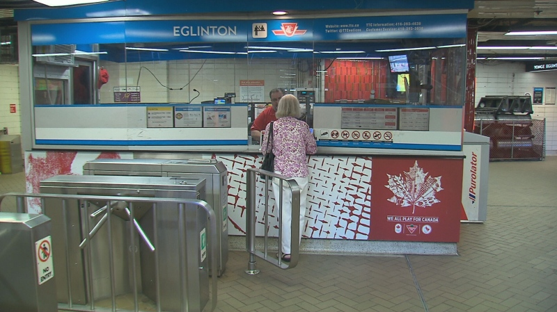 The Line 1 subway is shut down between Finch and Eglinton stations today and tomorrow for work on the automatic train control system.
