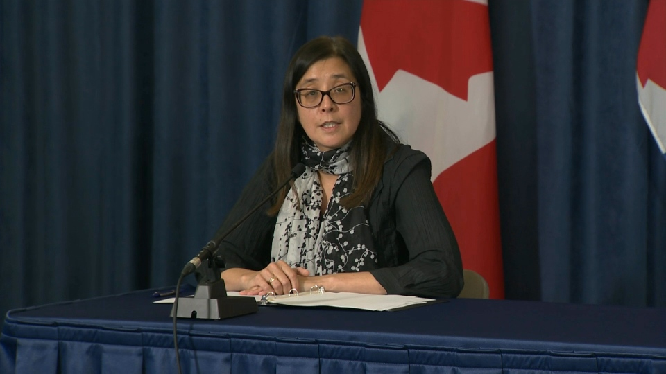 Medical Officer of Health Dr. Eileen de Villa speaks at a COVID-19 briefing on Sept. 28.