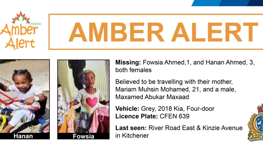 Amber Alert Issued For 2 Young Girls Allegedly Abducted In Kitchener Cp24 Com