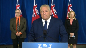 Sixty-two per cent of today's cases are in people under the age of 40 and Premier Doug Ford is urging young people to follow the rules.