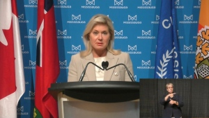 Mississauga Mayor Bonnie Crombie is shown during a briefing on Sept. 30.