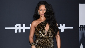 "Singer and fashion designer Rihanna attends the ""Rihanna"" book launch event in New York on Oct. 11, 2019. (Photo by Evan Agostini/Invision/AP, File)"