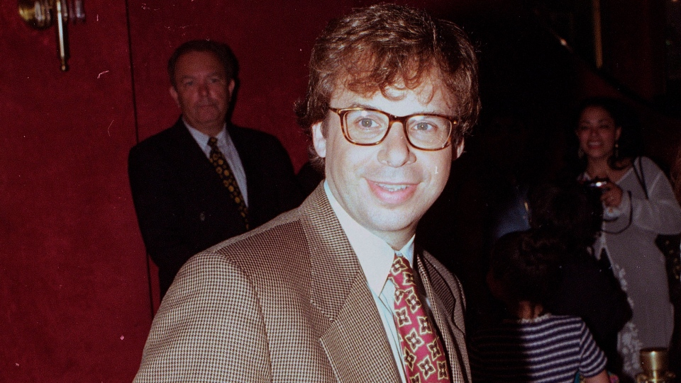 FILE - In this May 1994 file photo, actor Rick Moranis is shown at an unknown location. A law enforcement official tells the Associated Press that Moranis was sucker punched by an unknown assailant while walking Thursday, Oct. 1, 2020, on a sidewalk near New York's Central Park. Moranis took himself to the hospital and later went to a police station to report the incident, according to the official, who was not authorized to speak publicly about the incident and did so on condition of anonymity. (AP Photo/File)